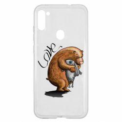 Чехол для Samsung A11/M11 Bear hugs a hare