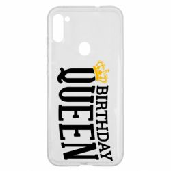 Чехол для Samsung A11/M11 Birthday queen and crown yellow