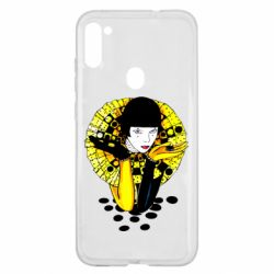 Чехол для Samsung A11/M11 Black and yellow clown