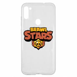 Чехол для Samsung A11/M11 Brawl Stars logo orang and yellow