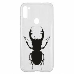 Чехол для Samsung A11/M11 Bugs silhouette