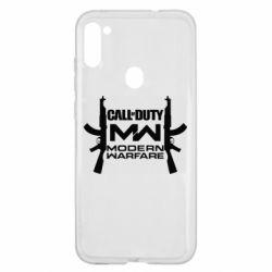 Чехол для Samsung A11/M11 Call of debt MW logo and Kalashnikov