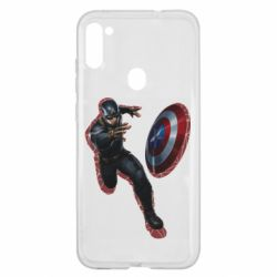 Чехол для Samsung A11/M11 Captain america with red shadow