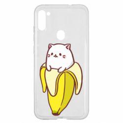 Чехол для Samsung A11/M11 Cat and Banana