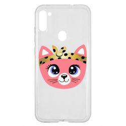 Чехол для Samsung A11/M11 Cat pink