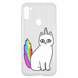 Чехол для Samsung A11/M11 Cat Unicorn