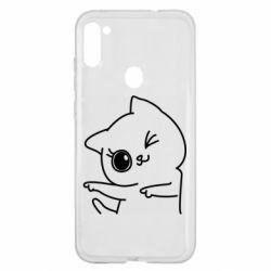 Чехол для Samsung A11/M11 Cheerful kitten