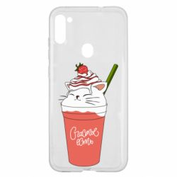 Чехол для Samsung A11/M11 Cocktail cat and strawberry