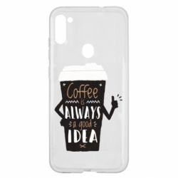 Чехол для Samsung A11/M11 Coffee is always a good idea.