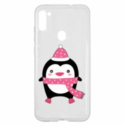 Чехол для Samsung A11/M11 Cute Christmas penguin