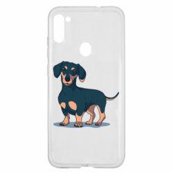Чехол для Samsung A11/M11 Cute dachshund