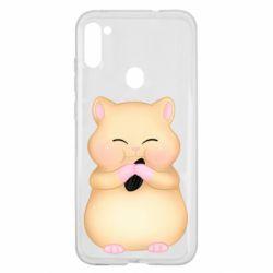 Чохол для Samsung A11/M11 Cute hamster with sunflower seed
