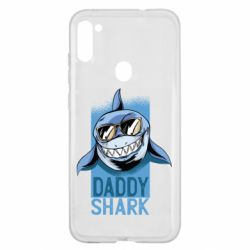 Чехол для Samsung A11/M11 Daddy shark