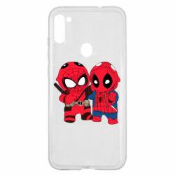 Чехол для Samsung A11/M11 Дэдпул и Человек паук