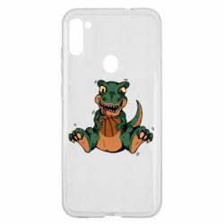 Чехол для Samsung A11/M11 Dinosaur and basketball