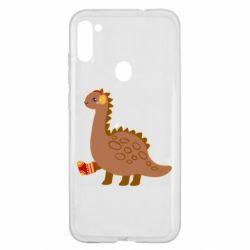 Чехол для Samsung A11/M11 Dinosaur in sock