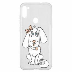 Чехол для Samsung A11/M11 Dog with a bow