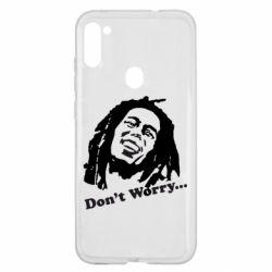 Чехол для Samsung A11/M11 Don't Worry (Bob Marley)