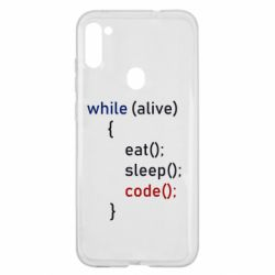 Чохол для Samsung A11/M11 Eat, Sleep, Code