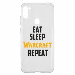 Чехол для Samsung A11/M11 Eat sleep Warcraft repeat