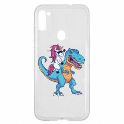 Чохол для Samsung A11/M11 Єдиноріг і динозавр