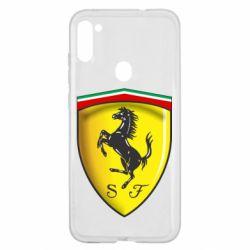 Чехол для Samsung A11/M11 Ferrari 3D Logo