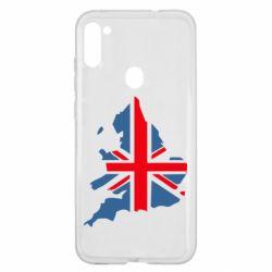Чехол для Samsung A11/M11 Флаг Англии