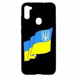 Чехол для Samsung A11/M11 Флаг Украины с Гербом