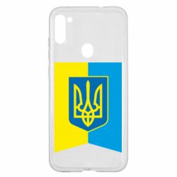 Чехол для Samsung A11/M11 Flag with the coat of arms of Ukraine
