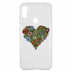 Чохол для Samsung A11/M11 Flower heart