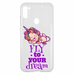 Чохол для Samsung A11/M11 Fly to your dream and lion