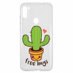 Чехол для Samsung A11/M11 Free Hugs Cactus