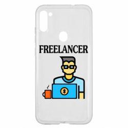 Чехол для Samsung A11/M11 Freelancer text
