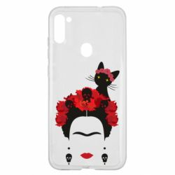 Чохол для Samsung A11/M11 Frida Kalo and cat