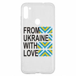 Чехол для Samsung A11/M11 From Ukraine with Love (вишиванка)