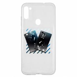 Чехол для Samsung A11/M11 Gambling Cards The Witcher and Cyrilla