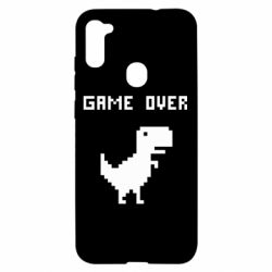 Чехол для Samsung A11/M11 Game over dino from browser