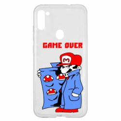 Чехол для Samsung A11/M11 Game Over Mario