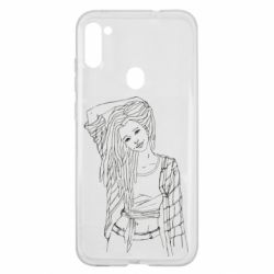 Чехол для Samsung A11/M11 Girl with dreadlocks