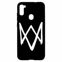 Чехол для Samsung A11/M11 Graffiti Watch Dogs logo
