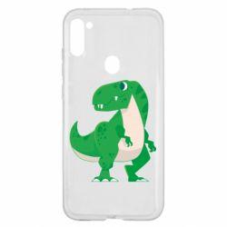 Чохол для Samsung A11/M11 Green little dinosaur