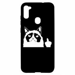 Чохол для Samsung A11/M11 Grumpy cat F**k Off
