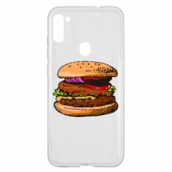 Чехол для Samsung A11/M11 Hamburger hand drawn vector