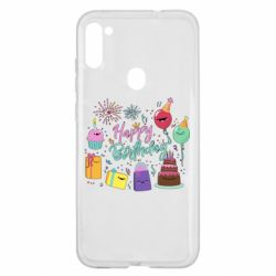 Чохол для Samsung A11/M11 Happy Birthday