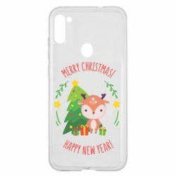 Чехол для Samsung A11/M11 Happy new year and deer