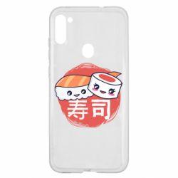 Чехол для Samsung A11/M11 Happy sushi