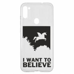 Чохол для Samsung A11/M11 Хочу вірити в єдинорогів