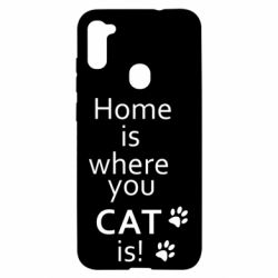 Чехол для Samsung A11/M11 Home is where your Cat is!