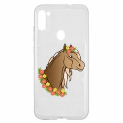 Чехол для Samsung A11/M11 Horse and flowers art