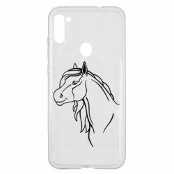 Чехол для Samsung A11/M11 Horse contour